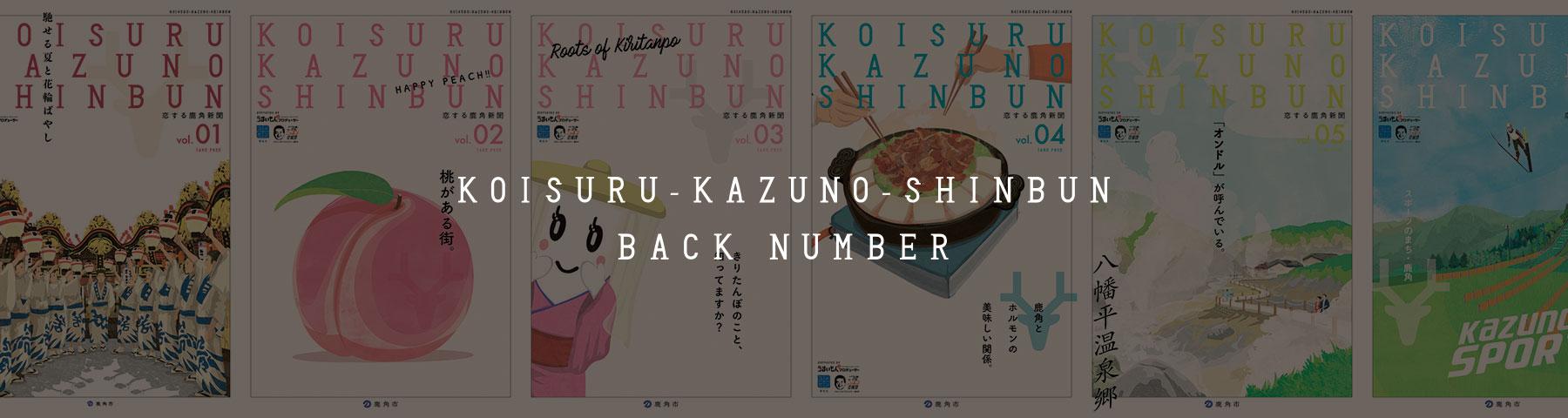 KOISURU-KAZUNO-SHINBUN BACK NUMBER